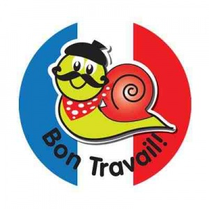 Bon Travail autocollants (escargot)