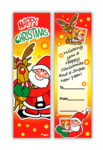 Happy Christmas bookmark