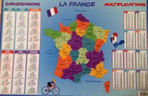 Sous-Main carte de France, conjugaison, multiplication