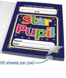 Star pupil praise notepad